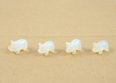 Opalite Pig Beads Carved Blue Beads Set of 4 with 1.3mm Hole