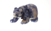 Blue Quartz Bear Beads Set of 4 With 1.3mm Hole