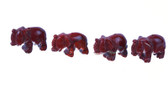 Red Jasper Elephant Beads Red Brown Stone Beads Set of 4 With 1.3mm Hole