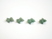 Aventurine Fish Beads Green Stone Goldfish Animal Beads Set of 4 with 1.3mm Hole