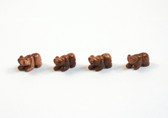 Goldstone Bear Beads Brown Animal Beads Set of 4 with 1.3mm Hole