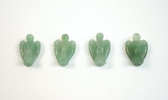 Aventurine Angel Beads Green Quartz Stone Beads Set of 4 with 1.3mm Hole