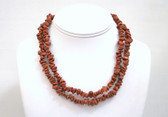 Goldstone Nugget Necklace Long Brown Necklace 36 Inches