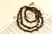 Hematite Necklace Chip Beads Nuggets Long Black Strand 34 Inch with Clasp