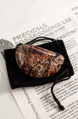 "Brecciated Jasper Tumbled Stone Extra Large 2-2.5"" with Bag"