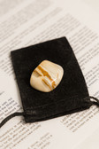 "Yellow Jasper Tumbled Stone Large Size 1.25-2"" with Bag"