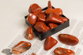 Red Jasper Tumbled Stones 1/4 Lb Size Extra Large 1.40-2.35""