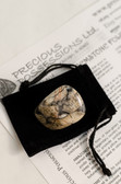 "Silver Leaf Jasper Tumbled Stone Small Size 1-1.60"" with Bag"