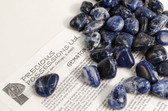 "Sodalite 1/4 Lb Tumbled Stones Size Medium Blue Stones .95-1.25"""