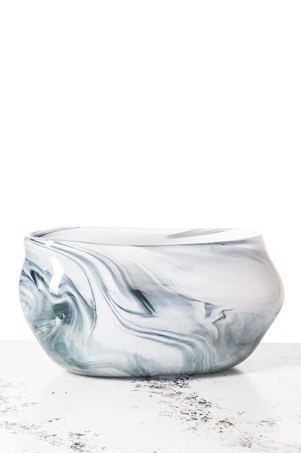 Daytona Vase - Marbled Gray