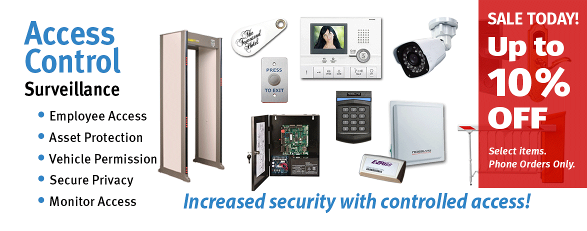 Biometric Readers, Proximity Readers, Access Control Systems, Door Locks, Mantraps, Metal Detectors