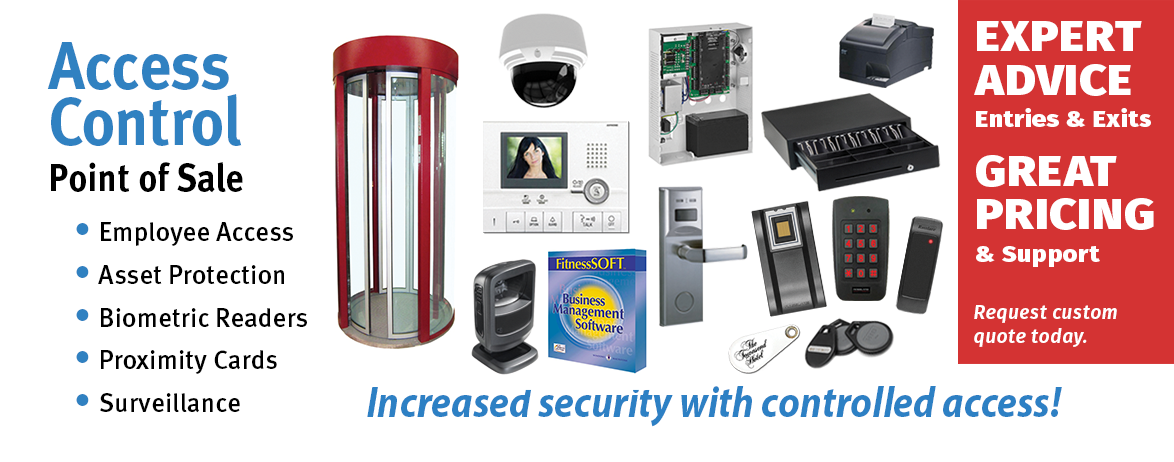Biometric Readers, Proximity Readers, Access Control Systems, Door Locks, Mantraps, Metal Detectors