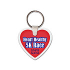 Heart Shaped Rubber Key Tag, with Key Ring