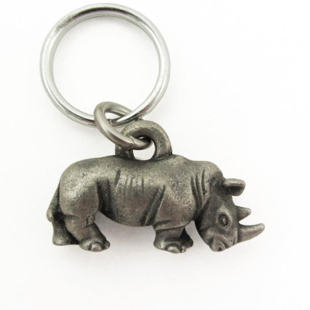 rhinoceros keychain