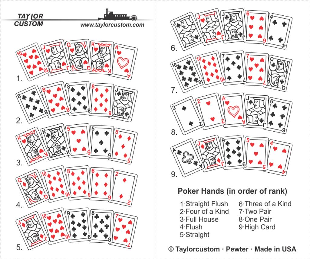 poker hand pendant packaging