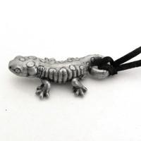 spotted salamander necklace