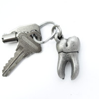 tooth keychain with keys