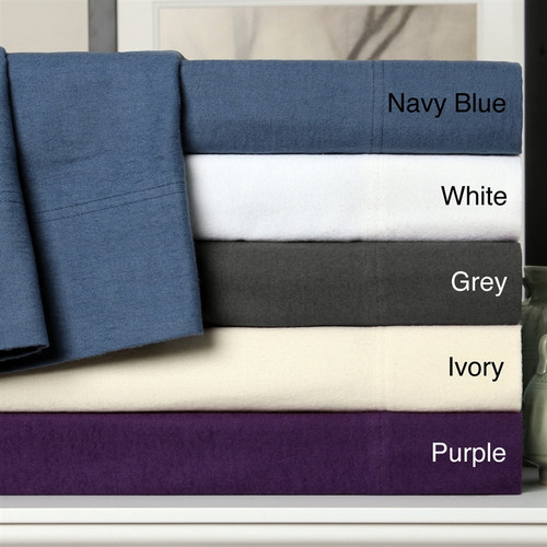 Flannel Solid Sheet Sets