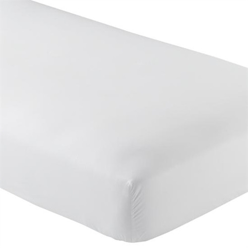 Fitted Microfiber Sheet Twin XL - White