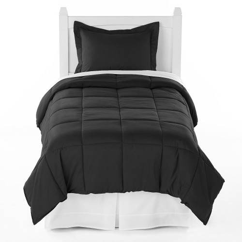Ivy Union Premium Down Alternative Twin XL Comforter Set, Black