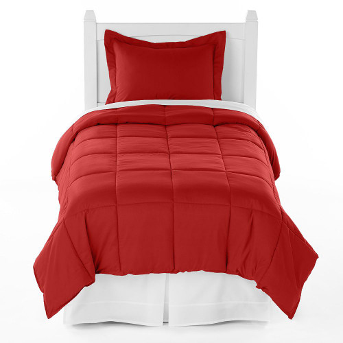 Ivy Union Premium Down Alternative Twin XL Comforter Set, Crimson Red