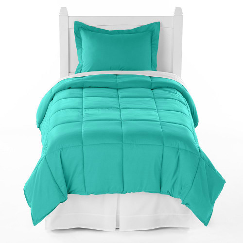 Ivy Union Premium Down Alternative Twin XL Comforter Set, Turquoise