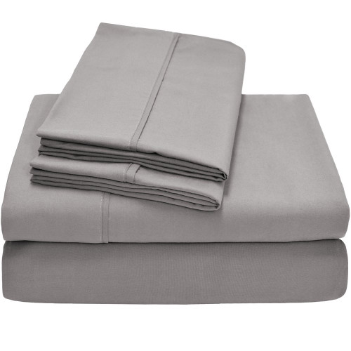 Twin XL Sheets - Microfiber - Light Grey