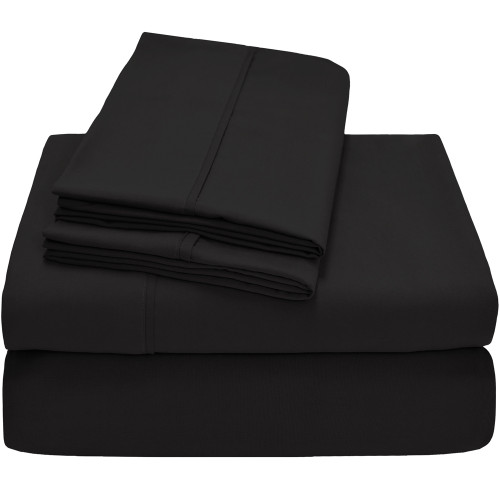 Twin XL Sheets - Microfiber - Black