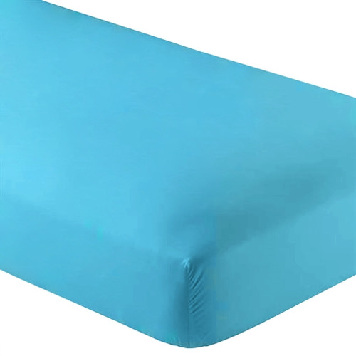 Fitted Microfiber Sheet Twin XL Aqua
