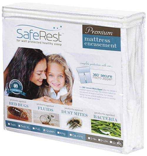 SafeRest Premium Zippered Mattress Encasement Twin XL, Depth 6'' - 9''
