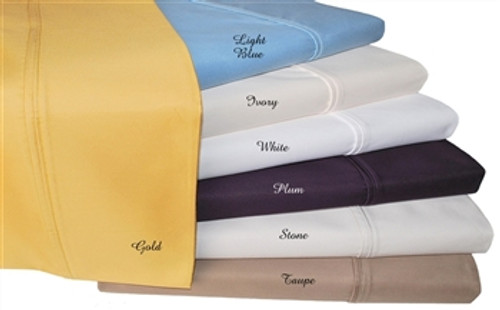 1000 Thread Count Solid Pillowcase Sets - Set of 2 - King