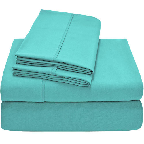 Ivy Union Premium Ultra-Soft Microfiber Twin XL Sheet Set - Turquoise