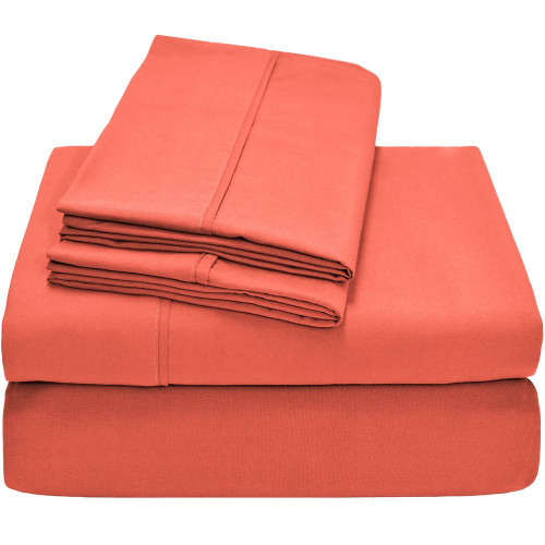 Ivy Union Premium Ultra-Soft Microfiber Twin XL Sheet Set - Coral