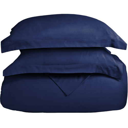 Ultra-Soft Microfiber Twin XL Duvet Cover Set - Dark Blue