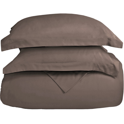 Ultra-Soft Microfiber Twin XL Duvet Cover Set - Taupe