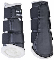 COMFORT BRUSHING BOOTS - Navy -by HKM RRP $69.95