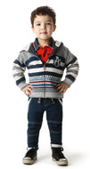 Catimini boys reversible cardigan.