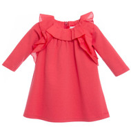 Chloe coral ruffle dress.