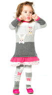 Deux par Deux baby girls knit dress.