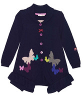 Deux par Deux girls knitted butterfly cardigan.
