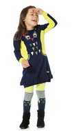 Deux par Deux girls knitted balloon dress.