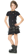 Deux par Deux girls knitted crystal dress.