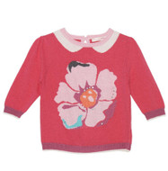 Deux par Deux girls pink poppy sweater.