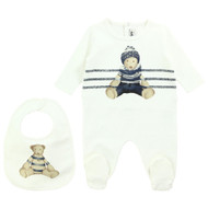Junior Gaultier Footie & Bib Set 5c99543