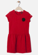 IKKS red quilted dress.
