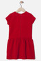 IKKS red dress at backside.