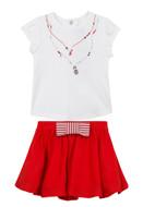 Jean Bourget Tee & Skirt Set jf10011-jf27021