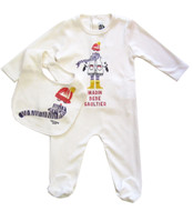 Junior Gaultier Footie & Bib Set