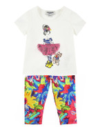 Junior Gaultier Tee & Leggings Set
