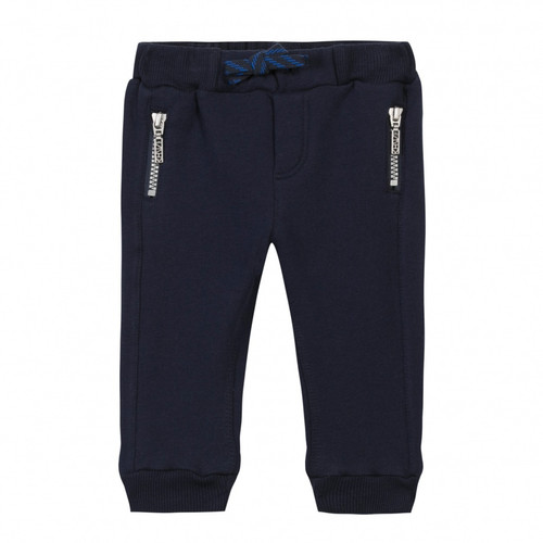 Kenzo navy fleece pants front.